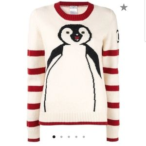 Chanel long sleeve penguin knit sweater